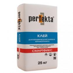 Клей для керамической плитки и керамогранита Perfekta Смартфикс 25 кг