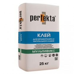 Клей для керамогранита и натурального камня Perfekta Мультификс 25 кг