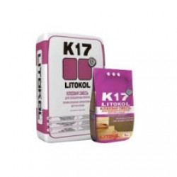 Клей для плитки и мрамора Litokol K17 25 кг серый