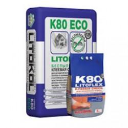 Клей для плитки и камня Litokol Litoflex K80 Eco 25 кг серый