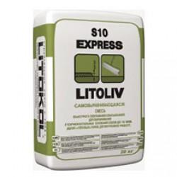 СамоВыравнивающаяся смесь для пола Litokol Litoliv S10 Express 20 кг Серая