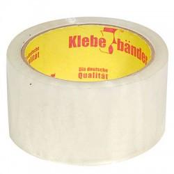 Скотч упаковочный Klebebander прозрачный (усиленная клейкость) 66000х50x0,045 мм