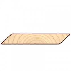 Доска фасадная Cкандинавская профиль косой планкен 5400-6000х145х20мм сосна-ель
