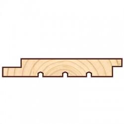 Доска фасадная скандинавская профиль UYS 5400-6000х145х20мм сосна-ель