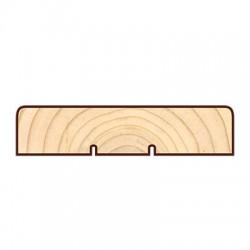 Доска фасадная Cкандинавская профиль КМ2R подшивная доска, наличник 5400-6000х145х20мм сосна-ель