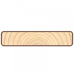 Доска фасадная Прямой Планкен 6000х120х20мм сосна-ель окрашенная сорт АВ