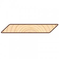 Доска фасадная Косой Планкен 6000х145х20мм сосна-ель окрашенная сорт АВ