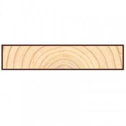 Доска для подшивки крыши строганая 6000х140х20мм сосна-ель окрашенная сорт АВ