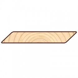Доска для подшивки крыши Косой Планкен 6000х120х20мм сосна-ель окрашенная сорт АВ