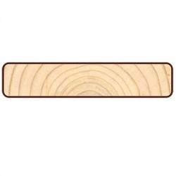 Доска для подшивки крыши Прямой Планкен 4000х90х20мм лиственница окрашенная сорт Прима/А