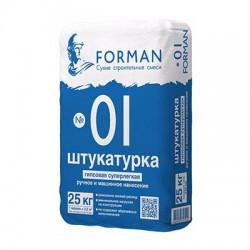 Штукатурка гипсовая Forman 01 суперлегкая 25 кг