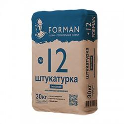 Штукатурка гипсовая Forman 12 машинного нанесения 30 кг
