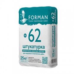 Штукатурка цементная декоративная КОРОЕД Forman 62 для внутренних и наружных работ 25 кг