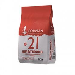 Шпатлевка гипсовая Forman 21 финишная белая 5 кг