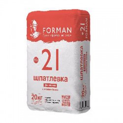 Шпатлевка гипсовая Forman 21 финишная белая 20 кг