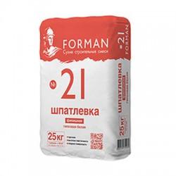 Шпатлевка гипсовая Forman 21 финишная белая 25 кг