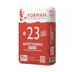Шпатлевка гипсовая Forman 23 высокопрочная супершов 25 кг