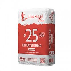 Шпатлевка гипсо-полимерная Forman 25 финишная белая 20 кг