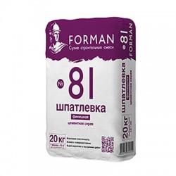 Шпатлевка цементная Forman 81 серая 20 кг