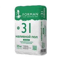 Наливной пол Forman 31 самовыравнивающийся быстротвердеющий 25 кг