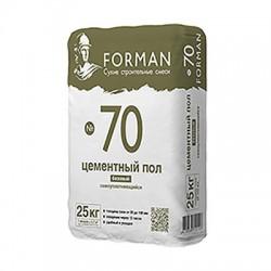 Ровнитель Forman 70 на цементной основе самоуплотняющийся 25 кг