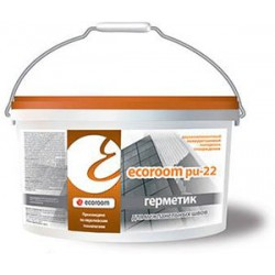 Двухкомпонентный полиуретановый герметик Ecoroom PU 22 ведро 10л/14 кг